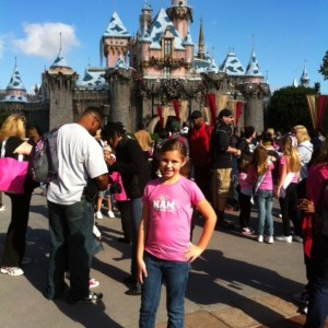 Ariana Muehlenbein hanging out in Disneyland