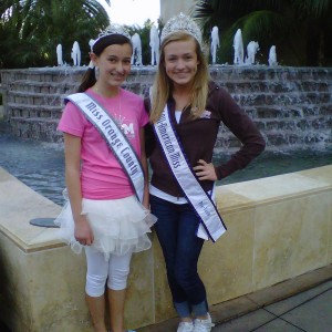 So Ca Pre-teen Danielle Deweese with All-American Queen Michaelah