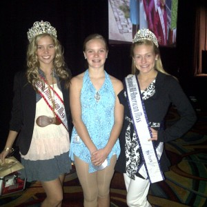 Skyler Miss Massachusetts with two reigning national queens