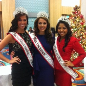 Victoria Tramell with National Queens Elise and Amaryllis