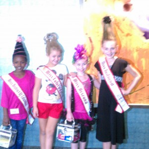Jr pre-teen DC Sky Stringer at the crazy hair rehersal # 11 with other members of her division