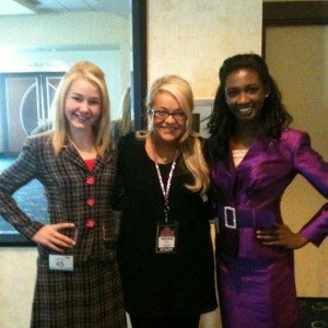 Brittany Georgia and Madison Shead with State Director Breanne Maples