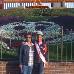 Jada Newkirk of Team Leadership with her Grandma at Disneyland