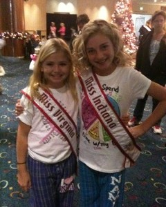 Miss Indiana and Miss Virginia in their PJ's rockin' NAM style!!