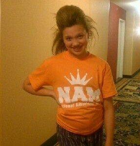 Victoria Newlove preteen, crazy hair rehearsal