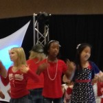 Tiana McGee at her Patriotic rehearsal