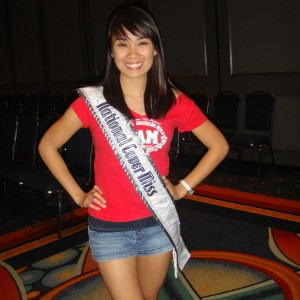 National Cover Miss Megan Viola-Vu at the Patriotic Themed Rehearsal. (Team Character)