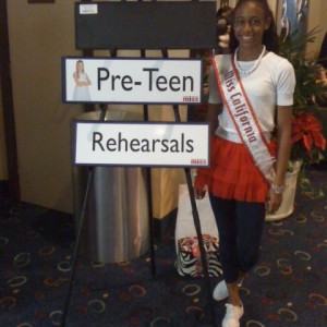 Jada Newkirk at the patriotic rehearsal