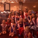 True blue National American Miss Girls