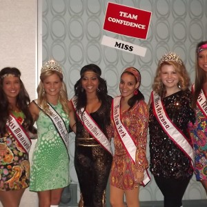 Team Confidence with the beautiful Miss queens!