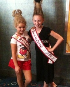 Miss Indiana and Miss Colorado with CRAZY HAIR!!