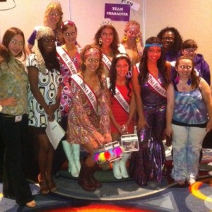 Teen contestants at the 70's theme party!