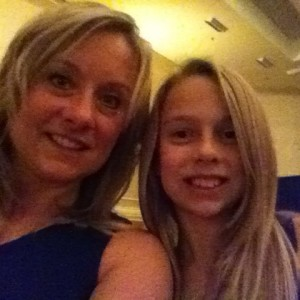 Mia Gryniuk and mom at Thanksgiving Banquet
