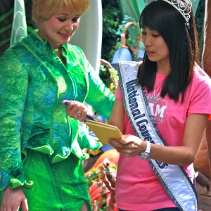 National Cover Miss Megan Viola-Vu meeting Tinkerbell!
