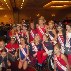 Jr Preteen State Queens in Red White and Blue