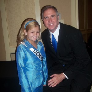 Abi Lange Miss Colorado Jr pre-teen with nam National Director Steve Mayes