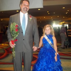 Miss Colorado Abi Lange with her Daddy, Curtis after formal wear