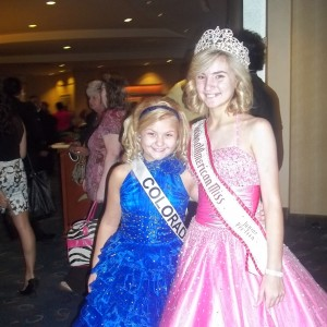 Miss Colorado Abi Lange with Jorden Flippo the National Jr Preteen Queen