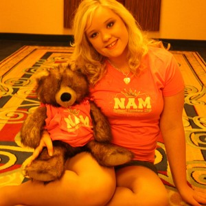 "Ciara with ""Nammie-Bear"""