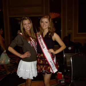 Miss Indiana Jr Teen - Zoe Parker and Miss Wisconsin Jr Teen -Madeline Morgan ready for a fun rehearsal!