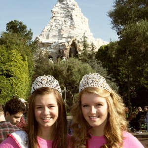 Miss Minnesota Jr Teen - Abby Jerome and Miss Wisconsin Jr Teen - Madeline Morgan excited for a day at Disney!
