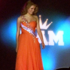 Maddie competing in Formal Wear Competition!