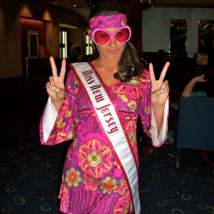 Miss New Jersey Teen, Samantha Mazza ready to get groovy at the 70's party!