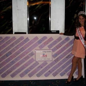 Samantha Mazza, NJ Teen and the Teen Goal board