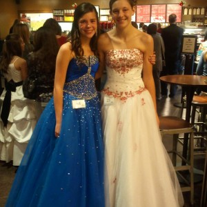 Minnesota Pre-Teens Kaitlin Kanfield and Savanna Cordle ready for Formal Wear