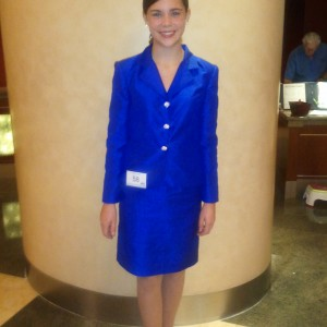 Kaitlin Kanfield rocking her interview suit