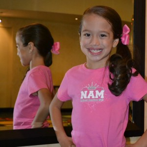 Jianna in her favorite shirt!