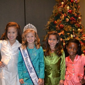 Newly crowned All American Princess 2011-2012 with her Queens Court