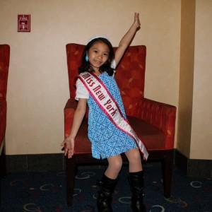 Kia Wong at the 70's theme party