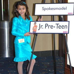 Ciara Wilson Miss Oregon Junior Pre-Teen at the Spokesmodel Competition