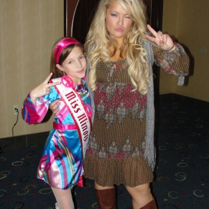 Breanne and Miss Illinois Jr. Pre-Teen shaking it up