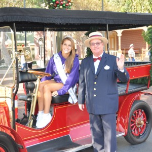 Camille Schrier PA enjoys a ride around Main Street
