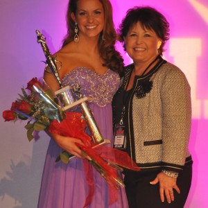 Camille Schrier 2nd runner up All American Miss with her State Director Sandy Palmgren
