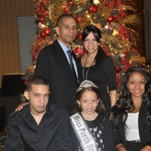 Tiana Polanco and family ready for the Thanksgiving Banquet