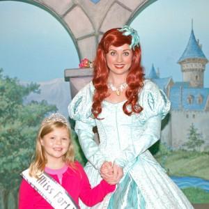 Princess Gwennyth Simmerman with Ariel!
