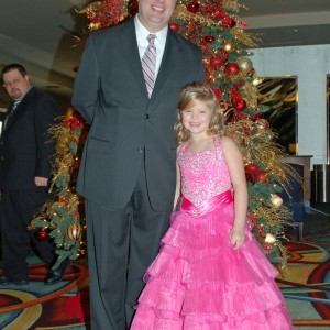 Gwennyth Simmerman with her Dad ready for Formal Wear!