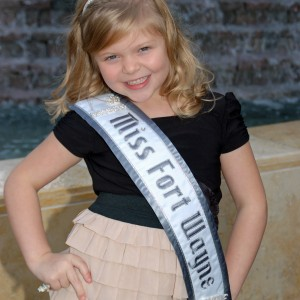 Miss Fort Wayne, Gwennyth Simmerman enjoying every minute of it!