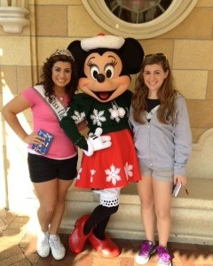 Posing with Minnie Mouse