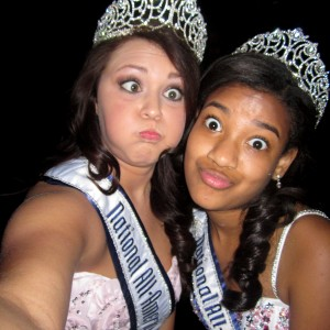 National All-American Miss Queens acting silly!