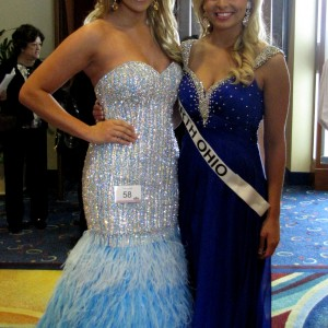 Kasey Knowles and Jena Diller (eventual sister queens) after formal wear