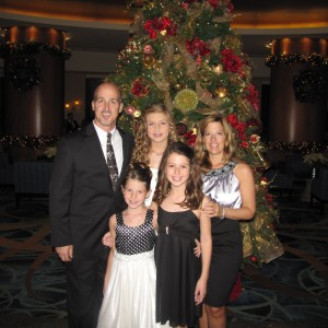 Sydney Scullion, Preteen, with Family