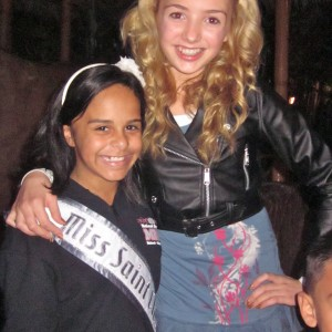 "Alexis with Peyton List, star of ""Jessie"" on Disney"
