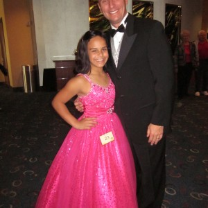 "At NAM, we adopt dad's too! Alexis and her ""pageant' dad and escort, Mr. Murphey"