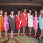 Miss NC, Sarah Helms, with all her new friends!