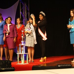 National Cover Miss being crowned