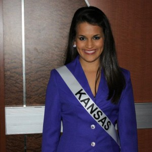 Kendra Leet, Miss Kansas Jr. Teen, about to head off to the Introduction competition!